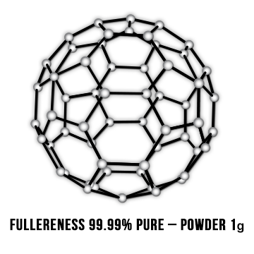 Fullereness 99.95% Ultra Pure – 1g Vacuum oven dried, Solvent Free Powder